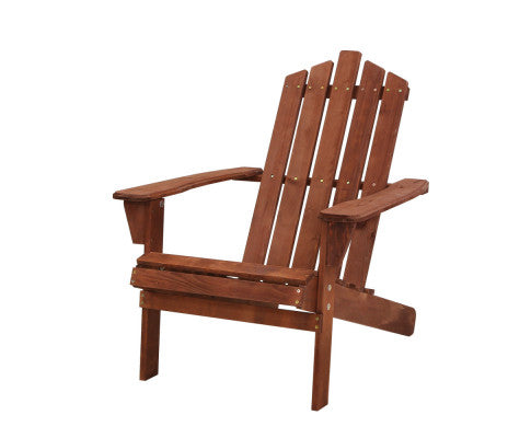 1 x Outdoor Wooden Adirondack Sun Lounge Chair - White, Brown or Natural