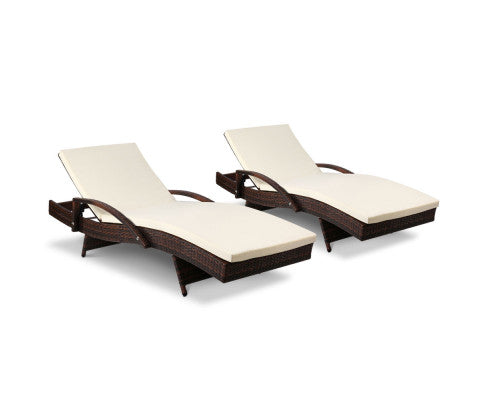 2pc Patio Sun Lounge Day Bed