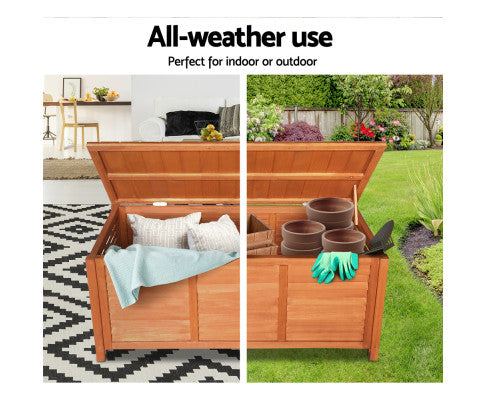 Outdoor Fir Wooden Storage Bench