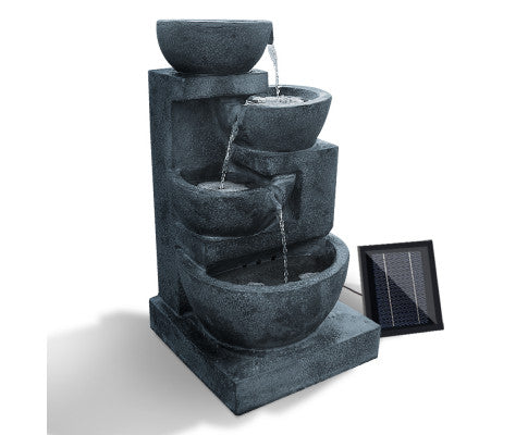 4 Tier Solar Powered Water Fountain with Light