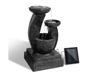 3 Tier Solar Powered Water Fountain with Light