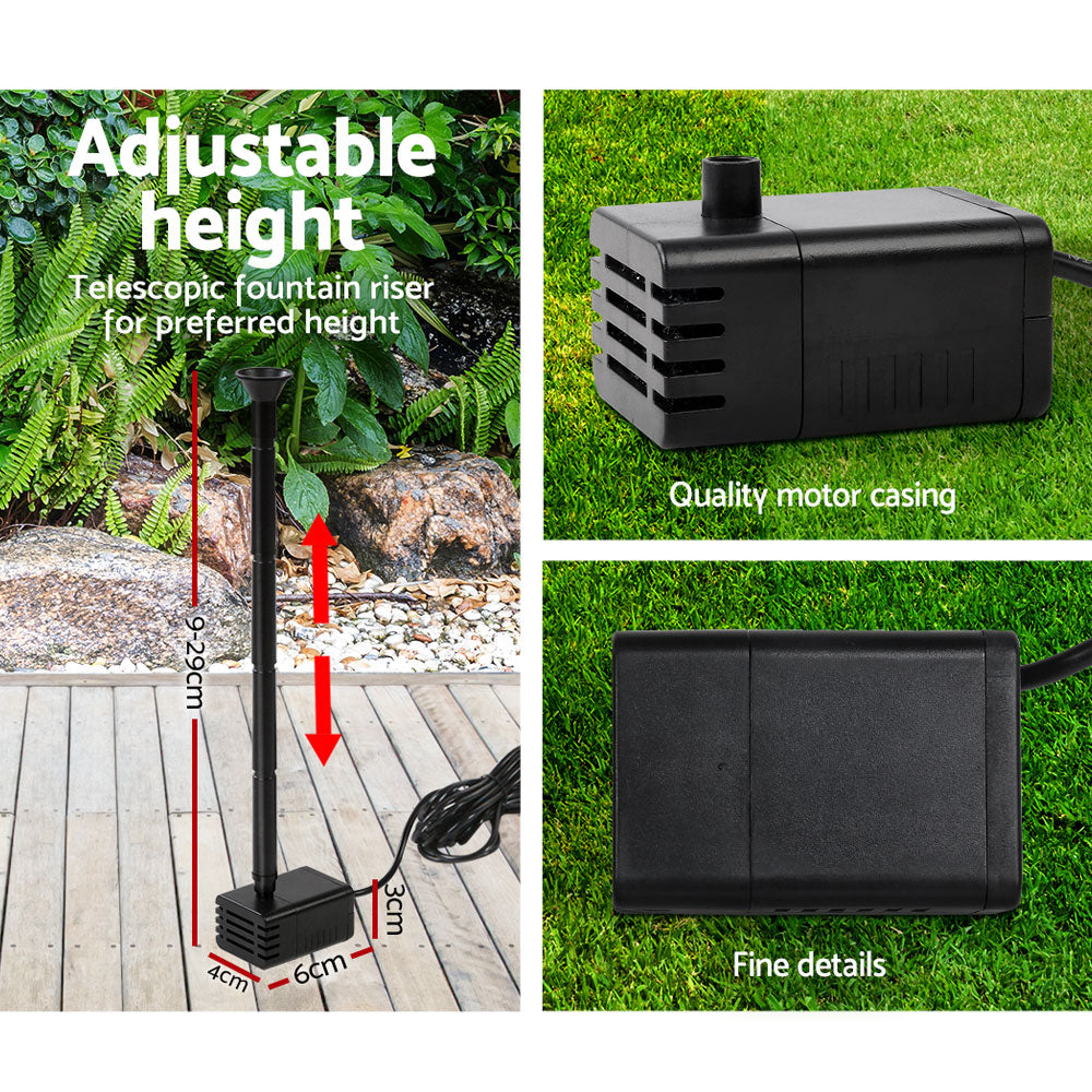 8W Solar Powered Water Pond Pump for Submersible Fountain