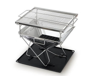 2IN1 Portable Stainless Steel Fire Pit & BBQ