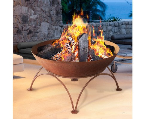 Rustic Fire Pit Outdoor Wood Burner