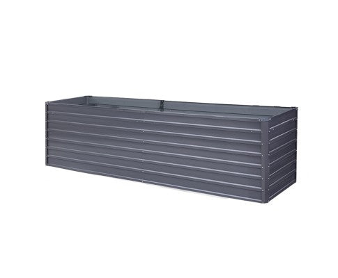 2 in 1 Galvanised Steel Raised Garden Bed, Instant Planter (320x80x77cm OR 240x80x77cm)