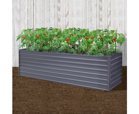 2 x Galvanised Steel Raised Garden Bed, Instant Planter (320x80x77cm OR 240x80x77cm)