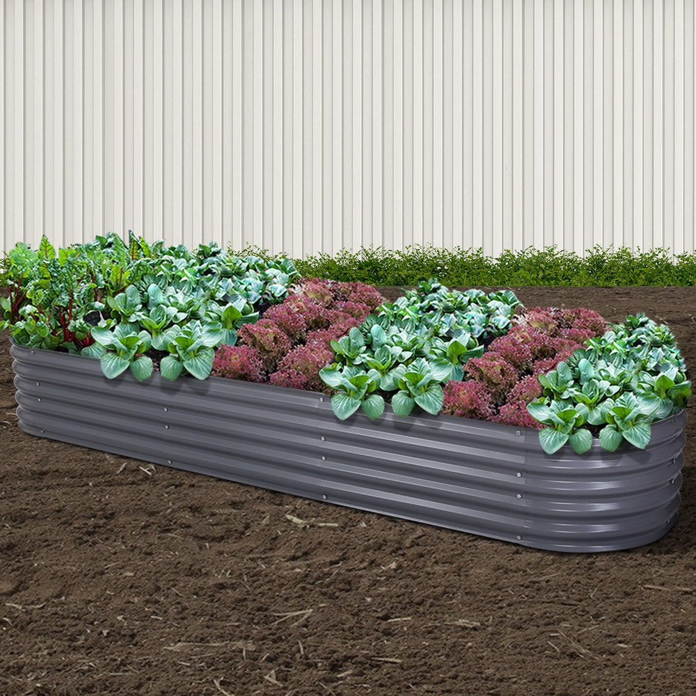 Greenfingers Galvanised Raised Garden Bed Steel Instant Planter - Choose Size