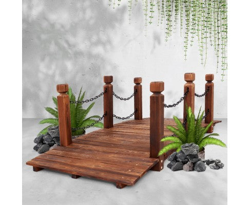 Rustic Wooden Chain Bridge  - 160cm Length Rail