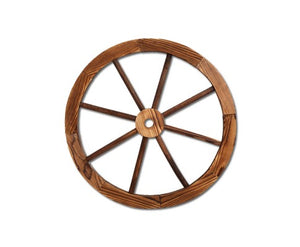 1X Wooden Wagon Wheel