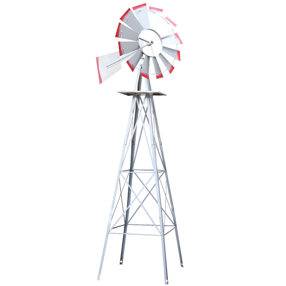 Garden Windmill Metal Ornamental Wind Will - 4FT, 6FT or 8FT