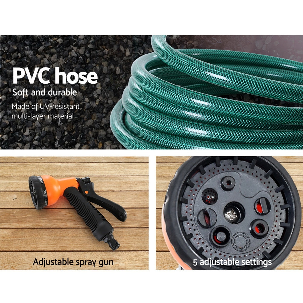 Greenfingers Retractable Hose Reel With Spray Gun - 20M or 30M