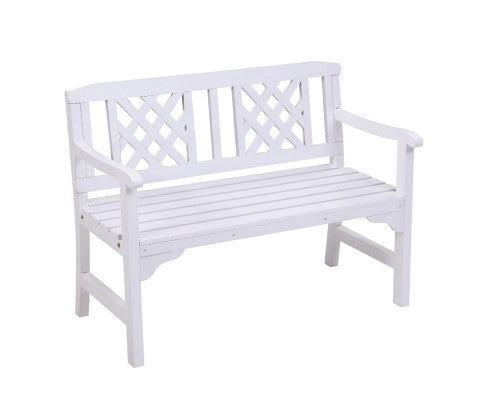 2 Seat Wooden Timber Patio Garden Bench