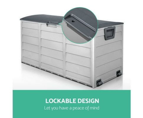 290L Outdoor Storage Box - Green, Grey or Black
