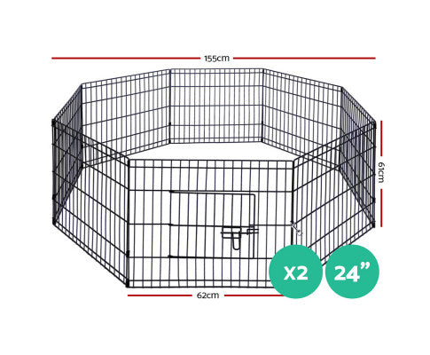 Pet Dog Puppy Playpen Enclosed Cage - 3 sizes to choose from