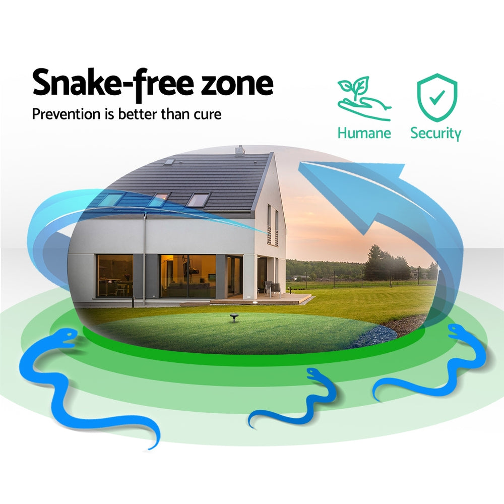 6 X Solar Snake Repeller Powered Pest Control