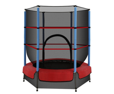 4.5FT Kids Round Trampoline With Enclosure Safety Net Padding