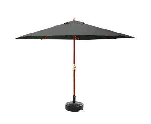 Outdoor Garden Umbrella Pole W/ Base - 3M