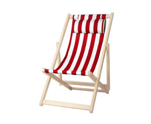 Outdoor Wooden Folding Beach Chair - Choose Color