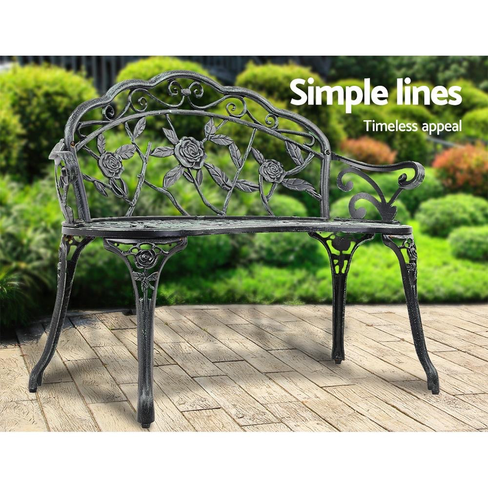 Victorian Garden Patio Bench - Green or White