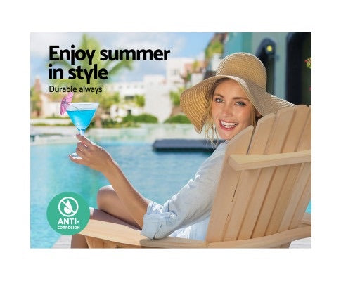2 x Outdoor Sun Lounge Chairs for Patio or beach - Natural