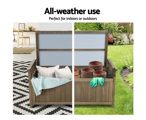 Outdoor Wooden Storage Box Bench Tool Shed