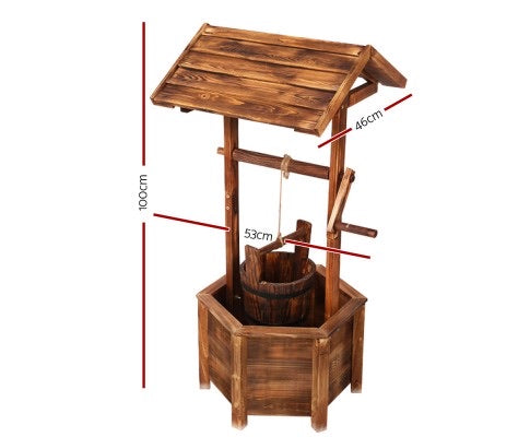 Wooden Wishing Well - 2 Sizes