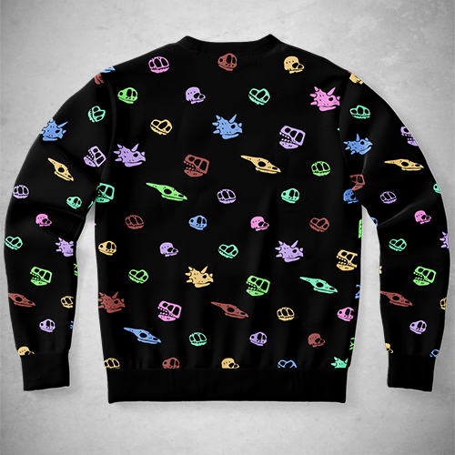Personalized Rainbow Skulls Pattern Sweatshirt