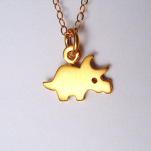 Load image into Gallery viewer, Personalized Triceratops Necklace
