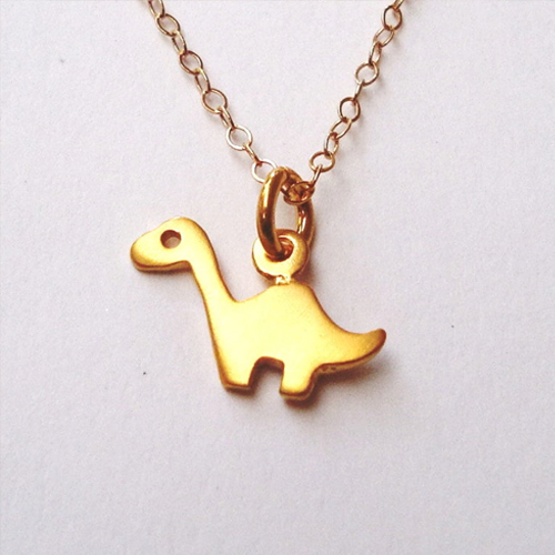 Personalized Brontosaurus Necklace