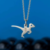 Personalized Velociraptor Necklace