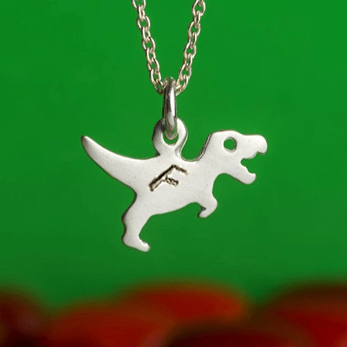 Personalized T-Rex Necklace