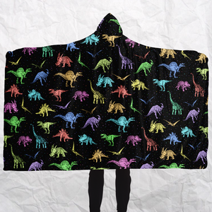 Personalized Dino Eccentrics Hooded Blanket