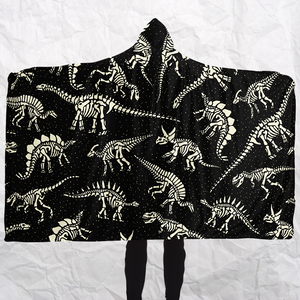 Personalized Bony Dinos Hooded Blanket