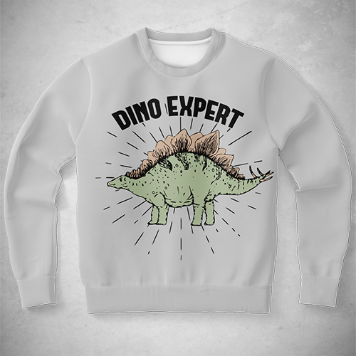 Personalized Dino Expert Sweatshirt