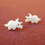 Triceratops Stud Earrings