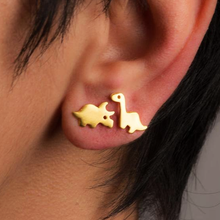 Load image into Gallery viewer, Triceratops Stud Earrings