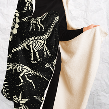 Load image into Gallery viewer, Personalized Bony Dinos Hooded Blanket