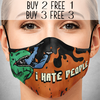 I Hate People Face Mask