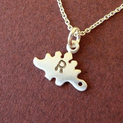 Personalized Stegosaurus Necklace