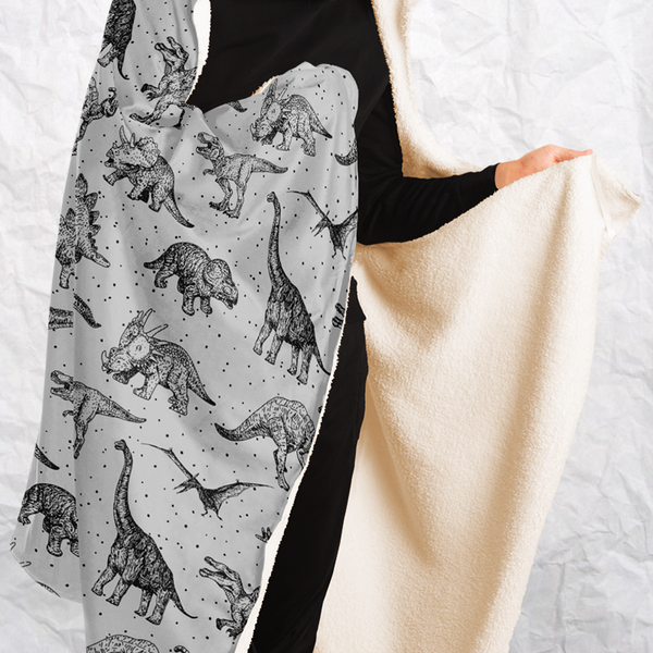 Personalized Dinosauria Hooded Blanket