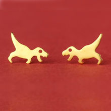 Load image into Gallery viewer, T-Rex Stud Earrings