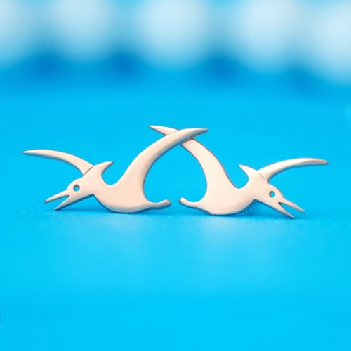 Pterodactyl Stud Earrings