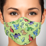 Dinomania Dinos Face Mask