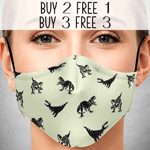 Three Rex Face Mask