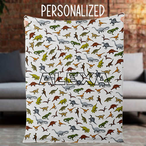 Personalized Color Paleoart Blanket