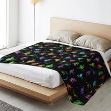 Load image into Gallery viewer, Personalized Rainbow Dinos Blanket