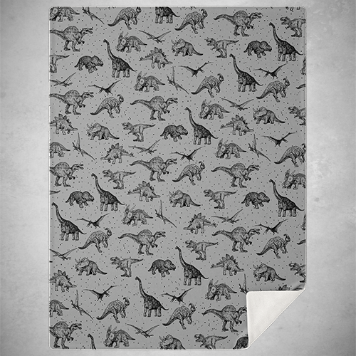 Personalized Paleoart Blanket