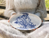 Blue and White Tentacles and Floral platter