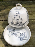 """Sail On"" Nordic Butter Dish"