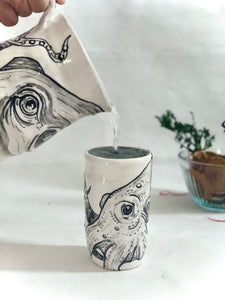 Hand Painted Octopus Mug/ Tumbler